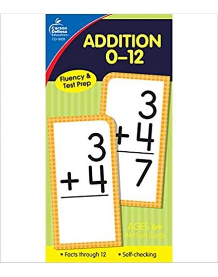 Addition 0–12 Flash Cards