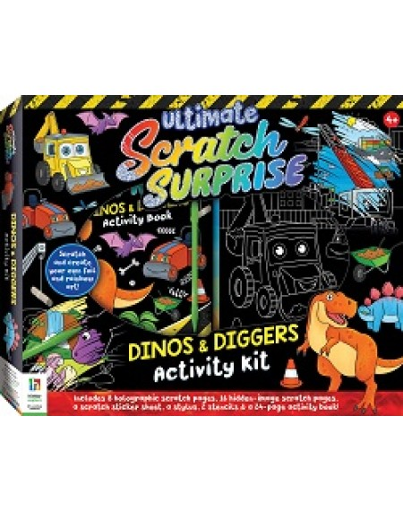 Ultimate Scratch Surprise Dinos & Diggers Activity Kit