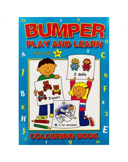Bumper Play & Learn Colouring Bk