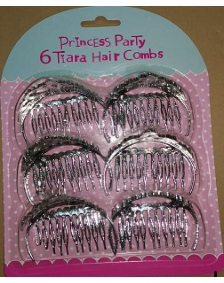 Princess Party 6 Tiara Hair Combs