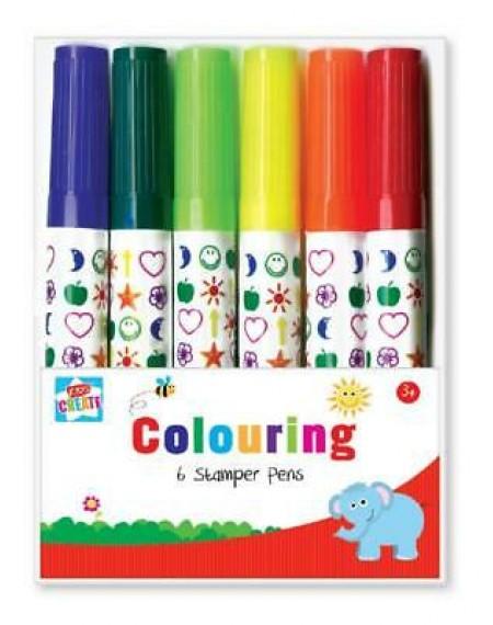 Colouring 6 Stamper Pens