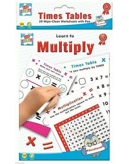 Education-A5 Wipe Clean Bk Times Tables