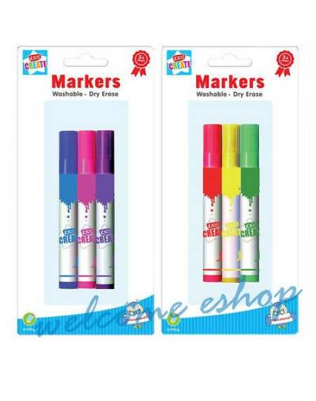 Educational-3 Wipe Clean Markers