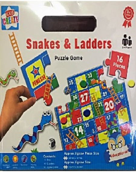 Kids Create- Snakes & Ladders Puzzle