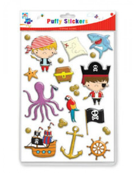 Pirate Puffy Stickers