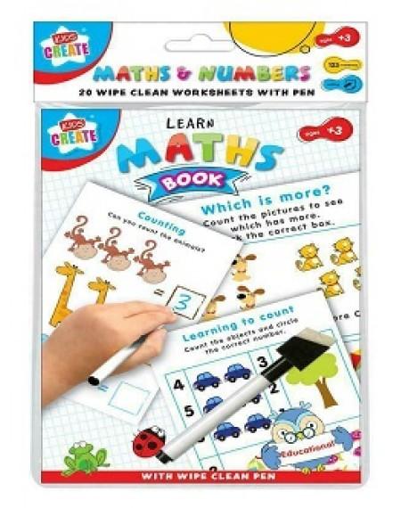 Educational A5 Wipe Clean Book Numbers
