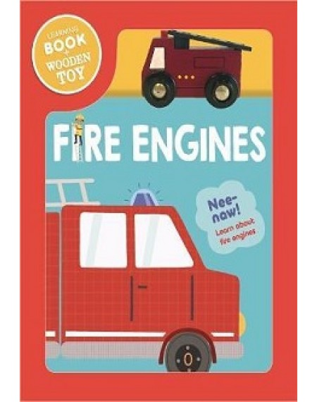 Book & Wooden Vehicle : Fire Engine