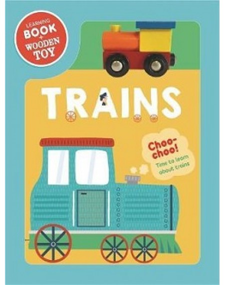 Book & Wooden Vehicle : Trains
