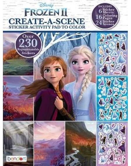 Create-A-Scene Sticker Activity Pad to Color : Frozen 2