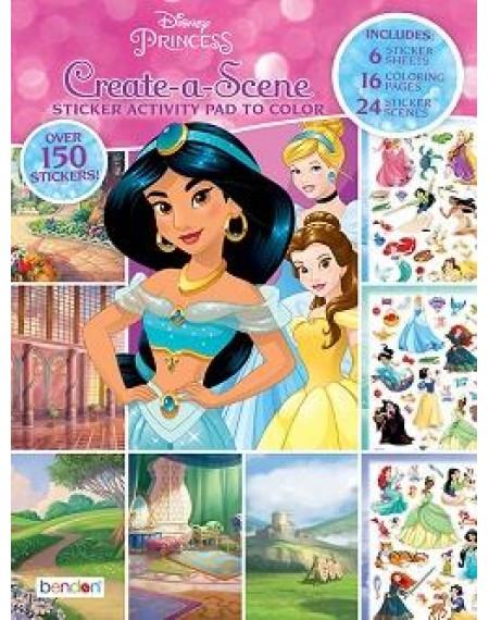 Create-A-Scene Sticker Activity Pad to Color : Princess