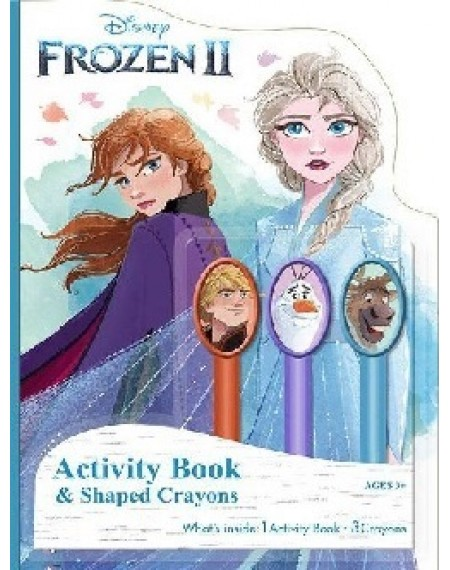 Activity Book with 3 Sculpted Crayons : Frozen 2