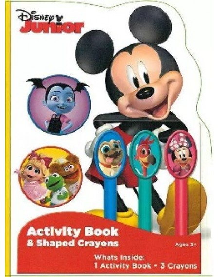 Activity Book with 3 Sculpted Crayons : Disney Junior