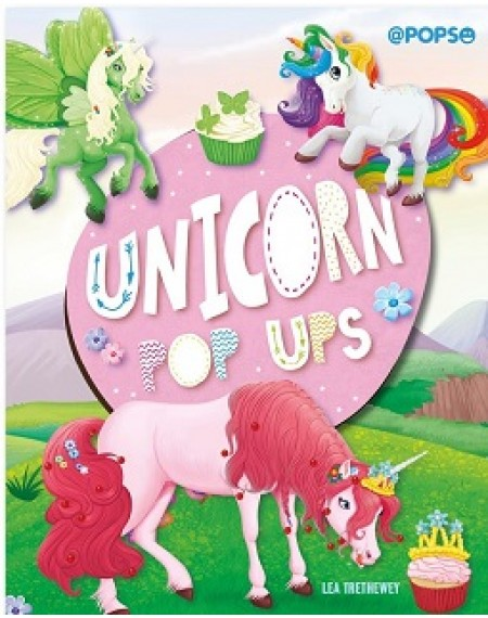 Large Padded Pop Up : Unicorns