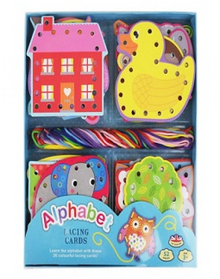 Alphabet Lacing Card Set