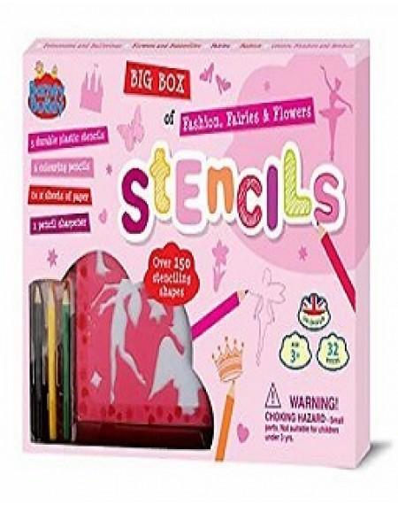 Buddy & Barney BB022 Big Box Stencils : Fashion and Fairies Stencils