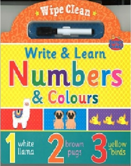 Numbers And Colours Wipe Clean Book
