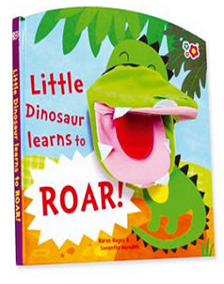 Hand Puppet Book: Little Dinosaur Likes to Roar