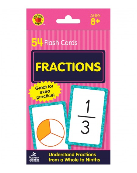 Brighter Child® Fractions Flash Cards