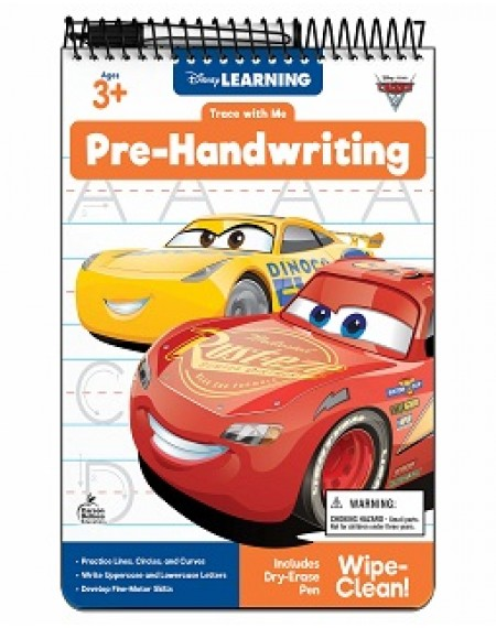 Trace With Me : Cars 3 Pre-Handwriting Activity Pad