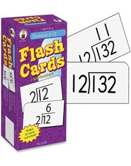 Division 0–12 Flash Cards