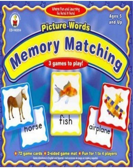 Board Game : Picture Words Memory Matching