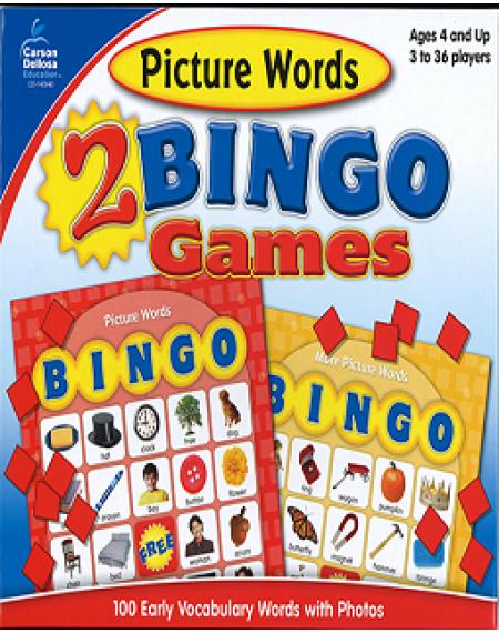 Picture Words Bingo Board Game