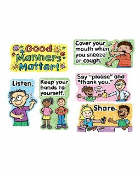 Bulletin Board : Good Manners Matter Kid Drawn Mini
