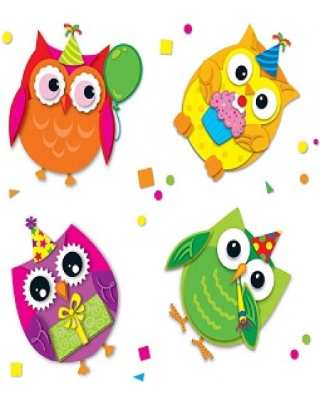 Shape Sticker : Celebrate With Colourful Owls