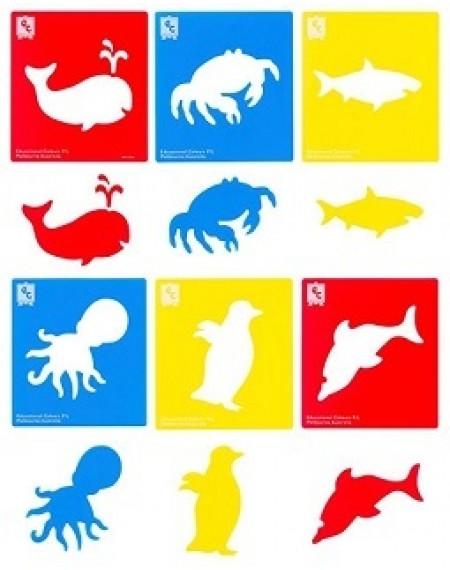 Stencil Sea Life Set Of 6