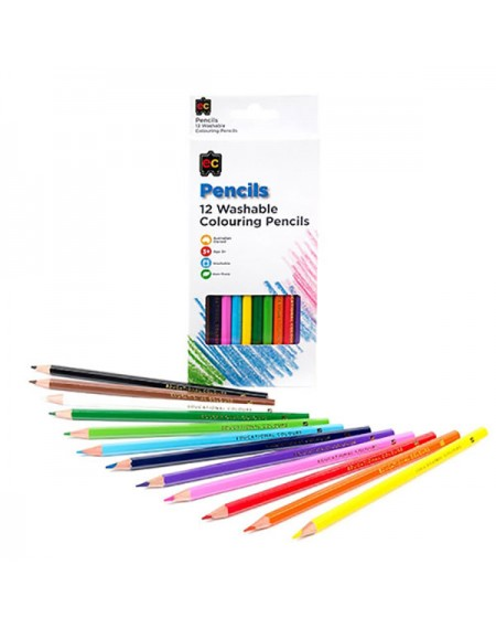 EC 12 Washable Colouring Pencils