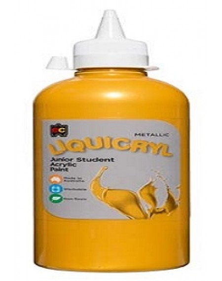 Liquicryl Junior Student Acrylic 500 ML Gold