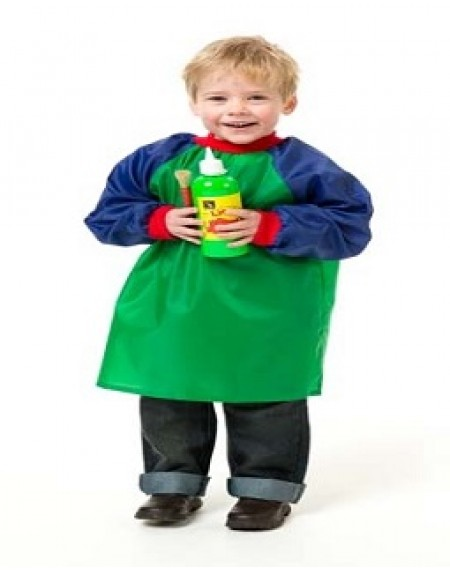 Toddler Smocks Green And Blue Ages 2-4