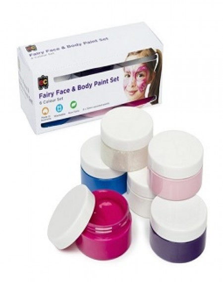 Fairy Face & Body Paint Set Of 6 x 50 ML
