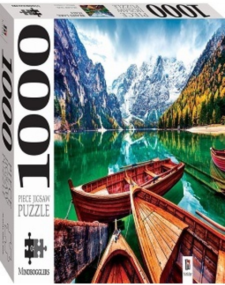 1000 Piece Jigsaw Puzzle : Braies Lake, Italy
