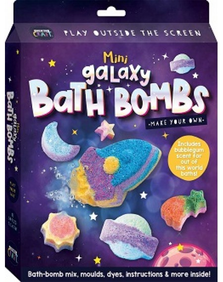 Curious Craft: Make Your Own Mini Galaxy Bath Bombs
