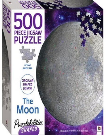 Puzzlebiities Shaped 500 Piece Jigsaw Puzzle : The Moon