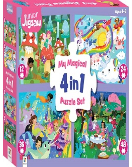 Junior Jigsaw 4 In 1 : Magical Fun