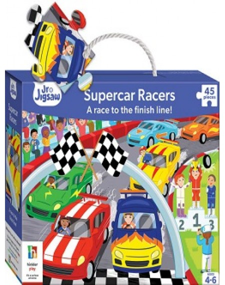 Junior Jigsaws Series 4 : At The Racetrack Jigsaw Puzzle (Supercar Racers)