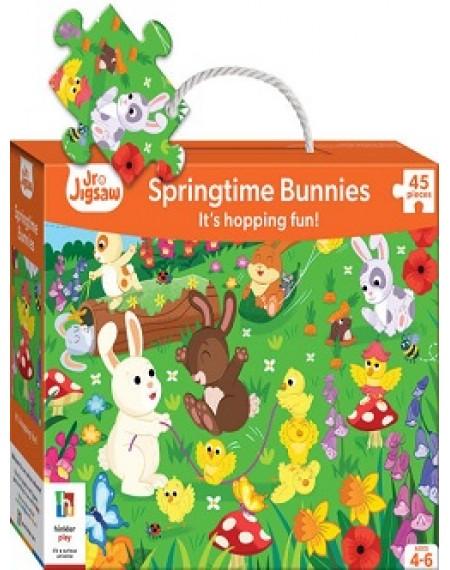 Junior Jigsaws Series 4 : Sprigtime bunnies Jigsaw Puzzle
