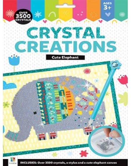 Crystal Creations Canvas Cute Elephant (Hang Sell)