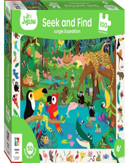 Seek And find 100 pc Jigsaw Jungle Expedition