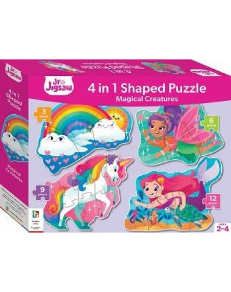 Junior Jigsaw Shaped 4 in 1 : Mythical Creatures Unicorn