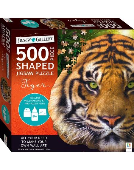 Jigsaw Gallery 500 Piece Shaped Jigsaw: Tiger
