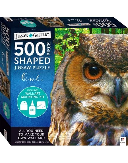 Jigsaw Gallery 500 Piece Shaped Jigsaw: Owl