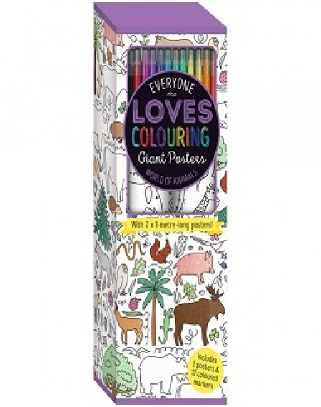 Colouring Poster Box: The World of Animals (UK)