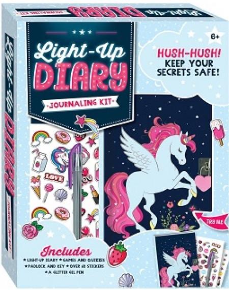 Unicorn Light Up Diary Journaling Kit