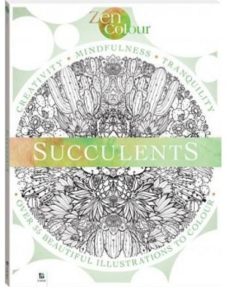 Zen Colour: Succulents (2019 Ed)