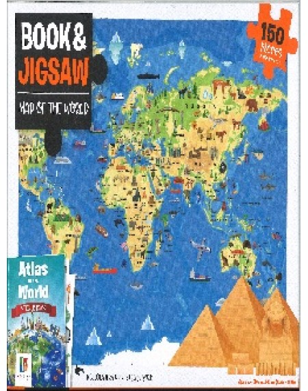 Atlas of the World Educational Book and Jigsaw