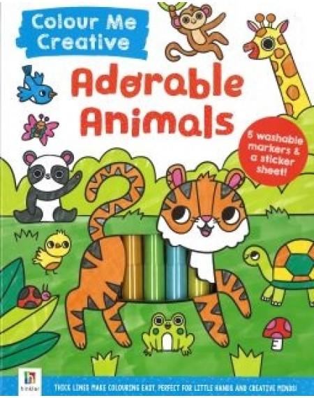 Colour Me Creative:Adorable Animals
