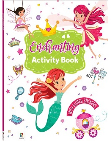 Activity Book with Glitter Stickers : Enchanting